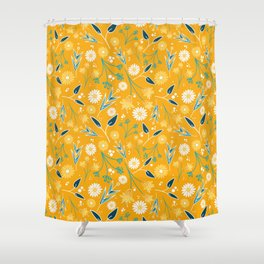 Flowers & Leaves Shower Curtain