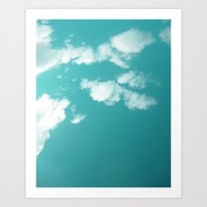 Teal kissed sky. Art Print