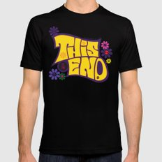 This is THE END MEDIUM Black Mens Fitted Tee