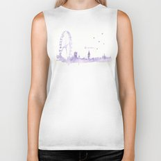 Watercolor landscape illustration_London Eye Biker Tank