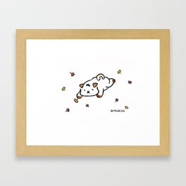 Hinggu_Autumn_Korea Jindo Dog illustration Framed Art Print