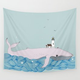 Whale beacon Wall Tapestry