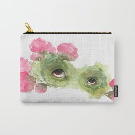 Peeping Peonies 1 Carry-All Pouch