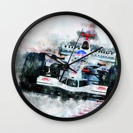 Jaques Villeneuve Wall Clock