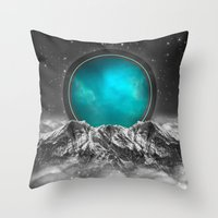 stargate Throw Pillows featuring Fade Away (Lunar Eclipse) by soaring anchor designs