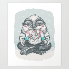 The not so abominable snowman Art Print