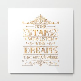 To the Stars - White Metal Print