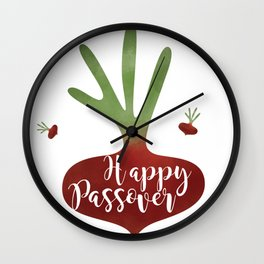 Radish is for Passover Wall Clock