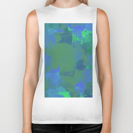 A Different View Of Earth - Abstract, textured, globe painting Biker Tank
