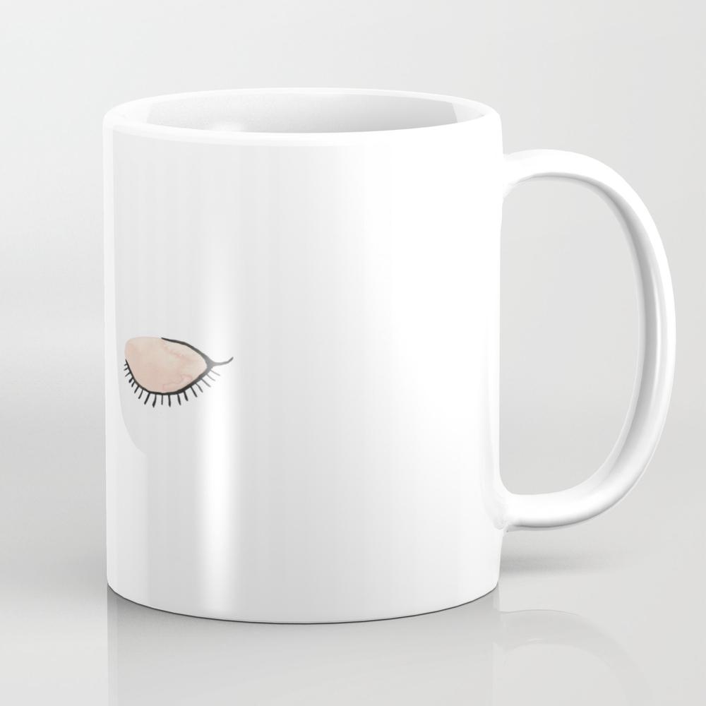 Sleepy Eyes Tea Cup by Sarahkateillustrates MUG6060887