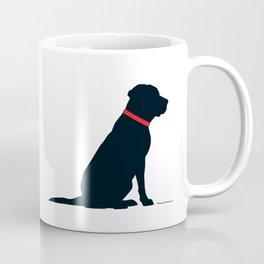Modern Black Lab Silhouette Coffee Mug