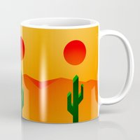 desert Mugs featuring Desert by Bakus
