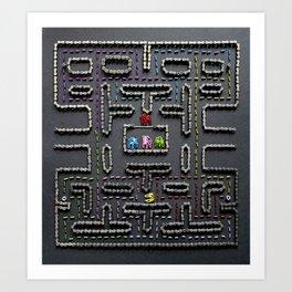 039: Pac Man - 100 Hoopies Art Print