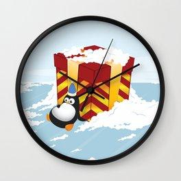 Greedy penguin Wall Clock