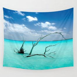 Driftwood in Lagoon Wall Tapestry