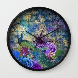 The Royal Peacock Wall Clock