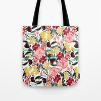 garden Tote Bags featuring Wild Garden II by Bouffants and Broken Hearts