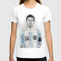 messi T-shirts featuring Lio Messi by Alan Myers