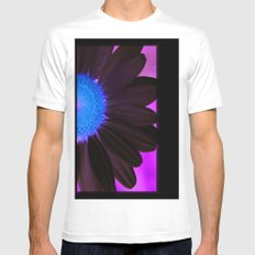 The White Daisy White Mens Fitted Tee SMALL