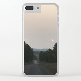 Red sun rises Clear iPhone Case