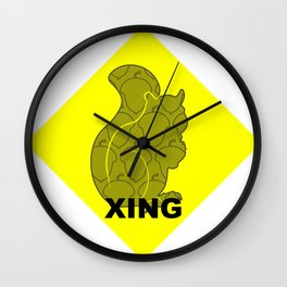 Squirrel XING Wall Clock