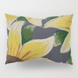 Handmade Sunflower Painting Pillow Sham