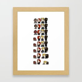 Card Kissing Framed Art Print
