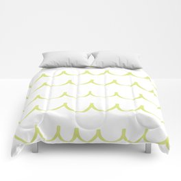 Citron Green Waves Comforters