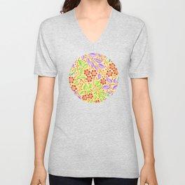 Sunshine Filigree Floral Unisex V-Neck