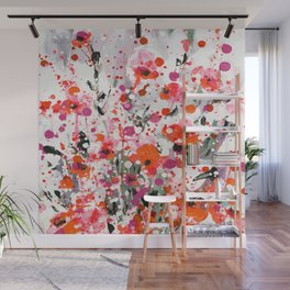 Floral Expression 2a by Kathy Morton Stanion Wall Mural