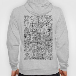Dortmund Map Gray Hoody