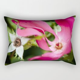 September red Rectangular Pillow