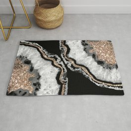 Yin Yang Agate Glitter Glam #8 #gem #decor #art #society6 Rug