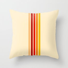Five Colorful Stripes Sunny Throw Pillow