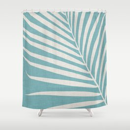 Vintage Palm Frond Shower Curtain