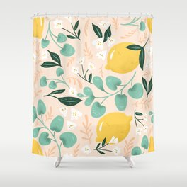 Lemon Party Shower Curtain