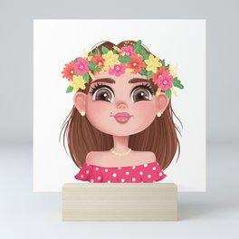 The Head of a Slavic Girl Mini Art Print