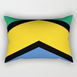 Chevron Gabon Flag Colors Rectangular Pillow