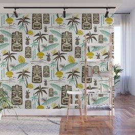 Island Tiki - White Wall Mural