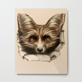 Hallo Fuchs! Mixed Media Art Metal Print