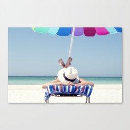 Holidays on the beach Canvas Print