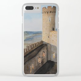 German Castle watercolor painting Clear iPhone Case