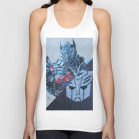 optimus prime Tank Tops featuring Optimus Prime  by JMH Art