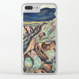 New Mexico Landscape by Marsden Hartley Clear iPhone Case