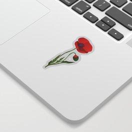 Poppy flower Sticker