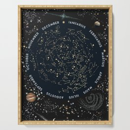 Come with me to see the stars Serving Tray