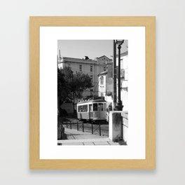 Lisbon Streets (2) - Black & White  Framed Art Print