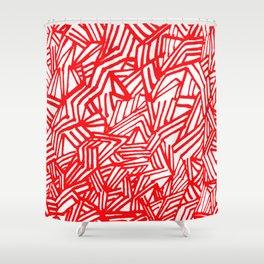 Redline (White version) Shower Curtain
