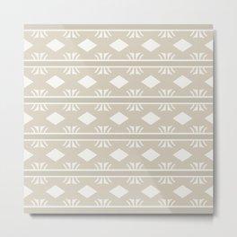 Coffee and Cream Aztec Design Metal Print