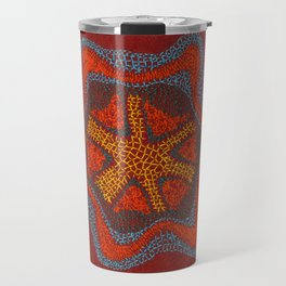 Growing - Clematis - plant cell embroidery Travel Mug